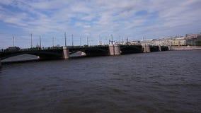 Neva-Fluss in St Petersburg stock footage