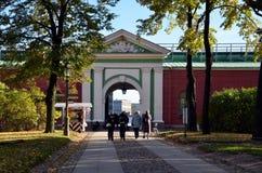 Neva Gate, Peter et Paul Fortress, St Petersburg Photographie stock libre de droits