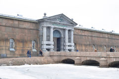 Neva gates of Peter and Paul Fortress. Royalty Free Stock Photo