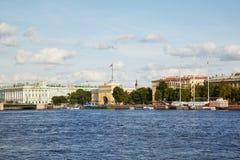 Neva river. Palace bridge, Winter palace. Saint Petersburg. Russia stock photos