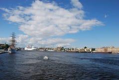 The neva river royalty free stock photography