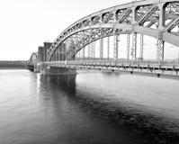 Neva river and Bridge Peter the Great. Stock Photos