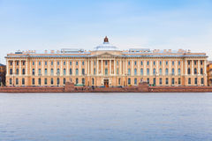 Neva river coast, Imperial Academy of Arts Royalty Free Stock Photography
