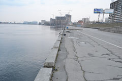 Neva River Embankment Stock Photos