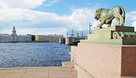 On the Neva river embankment, Saint-Petersburg Royalty Free Stock Image