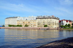 Neva river embankment Royalty Free Stock Photos