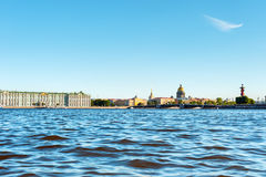 Neva river and main landmarks, St Petersburg, Russia Royalty Free Stock Images