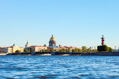 Neva river, St Petersburg, Russia Royalty Free Stock Images