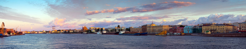 Neva river in morning. Saint Petersburg Stock Images