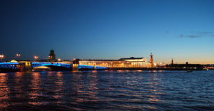 Neva river panorama in summer Royalty Free Stock Photography