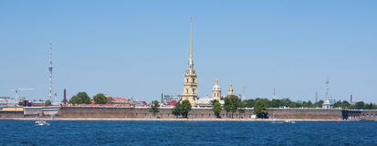 Neva River, Saint Petersburg. Neva River and Peter and Paul Fortress, Saint Petersburg Royalty Free Stock Image