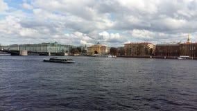 Neva river. In Saint-Peterburg, Russia Stock Image