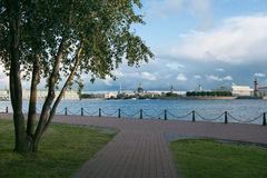 Neva river in Saint Petersburg Stock Photos