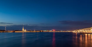 The Neva river in Saint Petersburg, Russia Royalty Free Stock Images