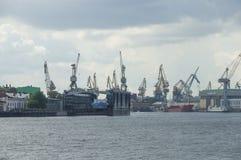 Neva River in St. Petersburg Royalty Free Stock Photos