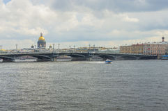 Neva River in St. Petersburg Royalty Free Stock Photo