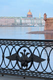 Neva River, St. Petersburg, Russia. View of the Neva River, bastion of the Peter and Paul Fortress, Hermitage museum, dome of St. Isaac's Cathedral. Saint royalty free stock photo