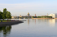 Neva River - St. Petersburg, Russia. Royalty Free Stock Images