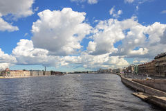 Neva river in St. Petersburg, sunny summer day Stock Image