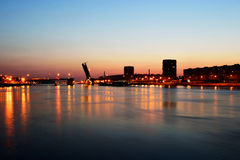 Neva river and Volodarsky bridge , St.Petersburg stock photo