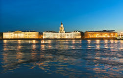 University quay of Vasilevsky Island Royalty Free Stock Images