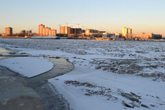 Neva river at winter Stock Image