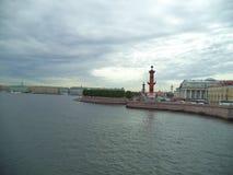 Neva rzeczny bulwar w St Petersburg obraz stock