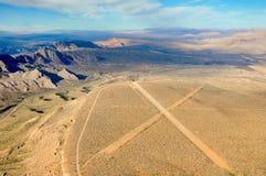 Nevada öken nära Las Vegas, USA arkivfoton