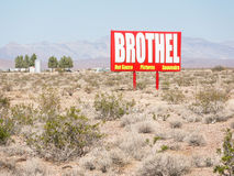 Nevada Brothel sign. Brothel in the Southern Nevada desert Stock Photos