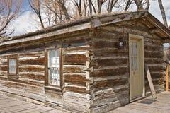 Nevada City Log Cabin Royalty Free Stock Photos