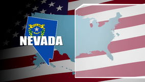 Nevada Countered Flag and Information Panel stock footage