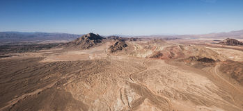 Nevada Desert. In America. Landscape aerial view royalty free stock photography