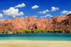 Nevada Desert Beach Landscape stock image