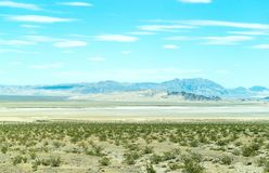 Nevada desert. With bushes and mountains royalty free stock photo