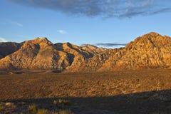 Nevada Desert First Light Royalty Free Stock Photos