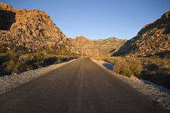 Nevada Desert Highway Stock Photography