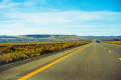 Nevada Desert Highway Royalty Free Stock Image