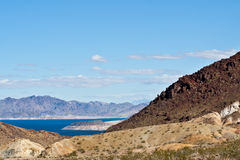 Nevada Desert And Lake Mead Stock Photos