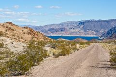 Nevada Desert And Lake Mead Royalty Free Stock Photo