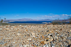 Nevada Desert And Lake Mead Royalty Free Stock Photography