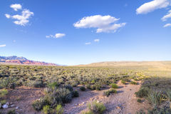 Nevada desert landscape and cloudscape Royalty Free Stock Photography
