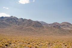 Nevada desert and mountains Royalty Free Stock Images