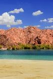 Nevada Desert Reservoir Beach fotografia de stock