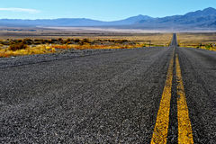 Nevada desert road. Roan in the Nevada Desert, USA Royalty Free Stock Photos