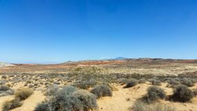 Nevada Desert. A scenic view of the Nevada desert. The mountain in the background creates a nice boundary for the photo stock photo