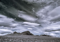 Nevada desert sky Royalty Free Stock Photo