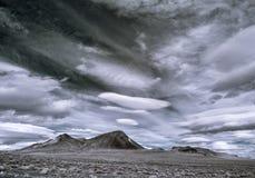Nevada desert sky. Uncertain weather in the northern Nevada desert royalty free stock photo