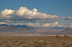 Nevada Desert Under Dramatic Clouds Stock Images