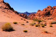 Nevada desert. Valley of Fire State Park, USA stock photography