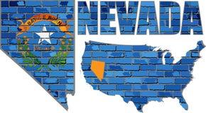Nevada en una pared de ladrillo Foto de archivo libre de regalías